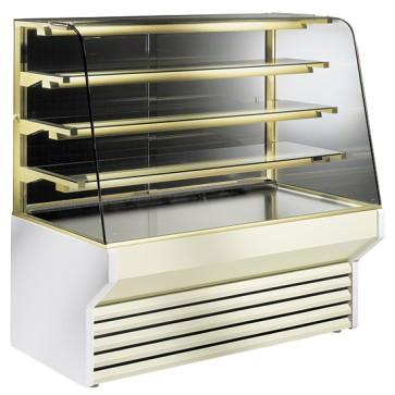 Vetrina refrigerata pasticceria con 3 mensole illuminata larghezza 2120 mm