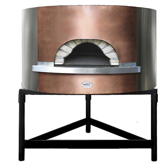 Forni pizza a legna coibentati con frontale in rame