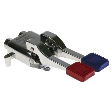 miscelatore a pavimento con 2 pedali per acqua fredda e calda, attacco 1/2