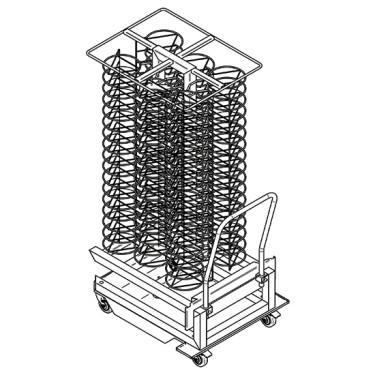 struttura carrellata portapiatti per forni da 20x GN 2/1, 100x ø 310 mm
