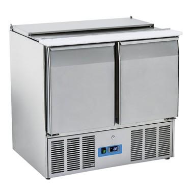 Saladette professionale con coperchio e vano refrigerato 2 porte - GN1/1 +4/+10°C