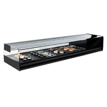 Vetrina refrigerata sushi 6x GN 1/3 con illuminazione LED, +1°/+5°C