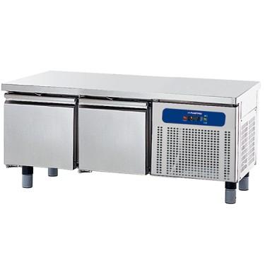 base refrigerata con 2 cassetti 1/1 per apparecchiature di cottura, l=1400 mm