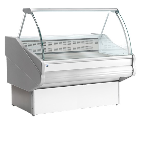 Vetrine calde ventilate vetro curvo