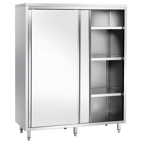 Armadio verticale con 2 porte scorrevoli e tre ripiani per cucine - Armadio con porte scorrevoli ...