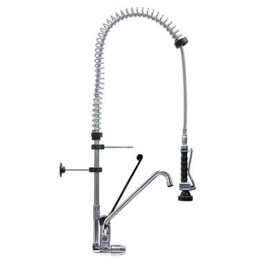 Doccione per stoviglie con miscelatore monocomando e monoforo e rubinetto, ø 1/2