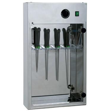 Sterilizzatore coltelli con timer per 20 pezzi da larghezza=35 cm
