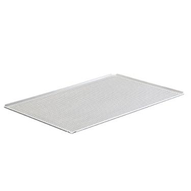 Teglia in alluminio non rivestita, GN 1/1 - 4 bordi 45°, perforata