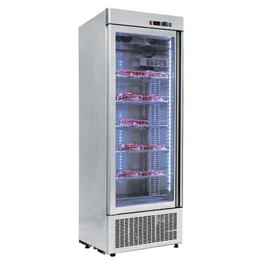 Armadio frigorifero statico con controllo umidità 600 lt.per conservazione carni e frollatra, temp
