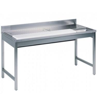 tavolo di preparazione per pesce, l=1400 mm