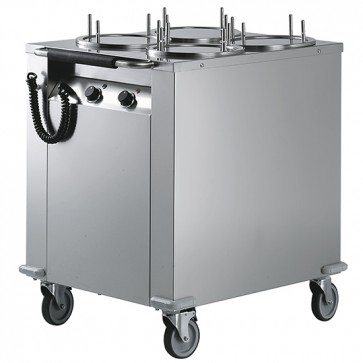 Carrello sollevatore piatti riscaldato, per 180 piatti da ø 18-28 cm