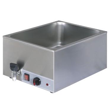 Bagnomaria elettrico da banco con rubinetto di scarico, 1 vasca GN1/1 h=150 mm