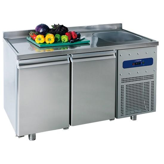 Tavoli refrigerati profondità 700 mm con lavello
