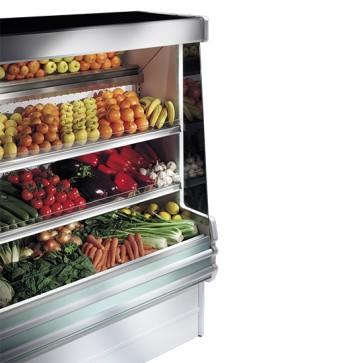 Murale refrigerato con 2 ripiani per frutta, larghezza=1500