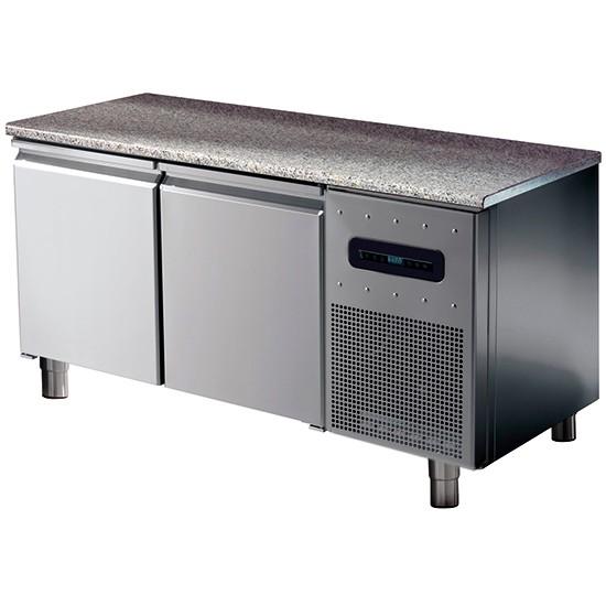 Tavoli refrigerati pasticceria con piano in granito