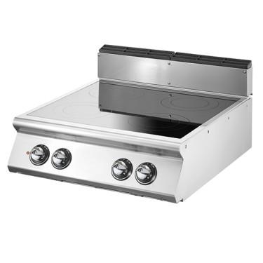 Cucina induzione da banco, 4 zone di cottura Ø 220 mm ciascuna 3,5 kW