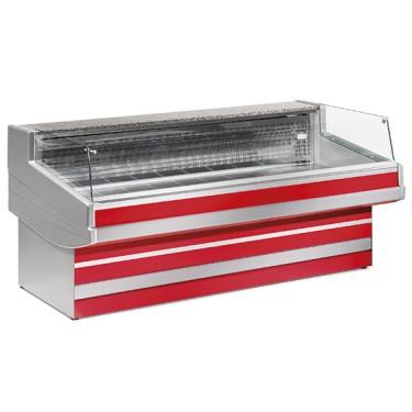 Banco carne refrigerato statico self-service, 0 °c/+2 °c, larghezza=4000 mm