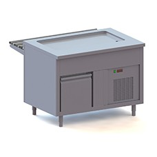 Elemento piano refrigerato su armadio refrigerato, l=1200 mm, 3x GN 1/1.
