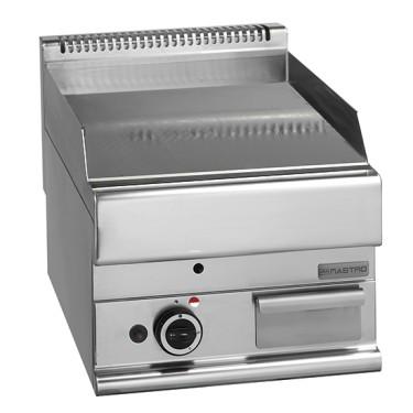 fry top a gas da banco, piastra cromata liscia