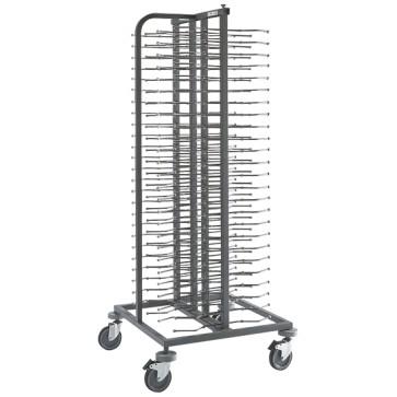 Colonna portapiatti su ruote, capacità 100 piatti ø 33 cm