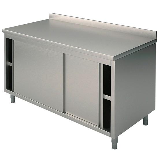 Tavoli armadiati con porte scorrevoli con alzatina profondità 60 cm