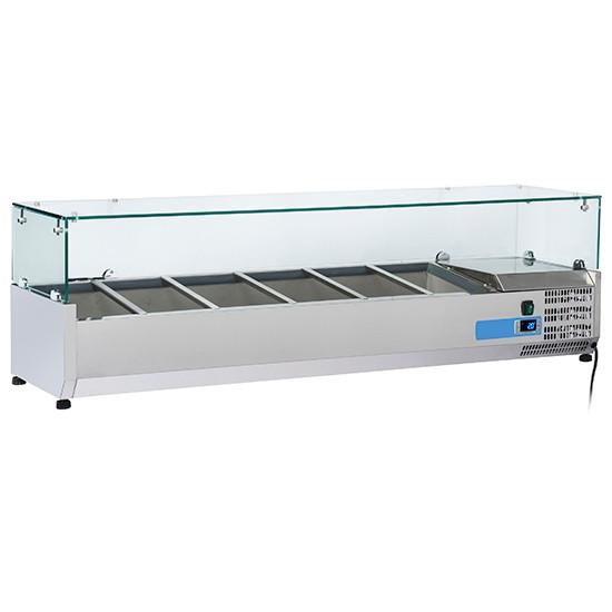 Vetrine refrigerate portaingredienti per contenitori da 1/3 altezza 150 mm