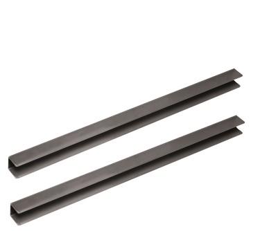 Coppia guide in inox per tavoli refrigerati da p=600 mm