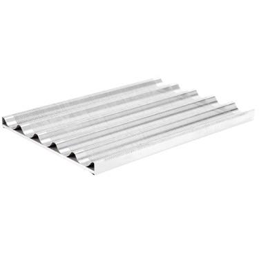 Teglia alluminio forato e siliconata 600x400 mm per 5 baguette