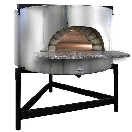 Forno pizza a legna con facciata in acciao inox platea for Forno a legna 4 pizze