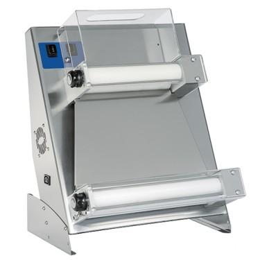 Dilaminatrice con 2 rulli paralleli per pizze ø 26-45 cm