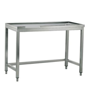 tavolo di cernita destro con foro, per macchine con uscita a sinistra, l=1600 mm