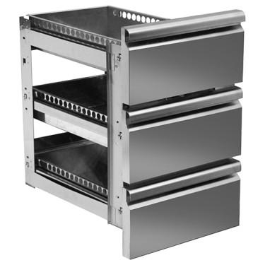 Kit cassettiera con soft self closing da 3x 1/3 per tavoli refrigerati 700 mm - linea VIRTUS