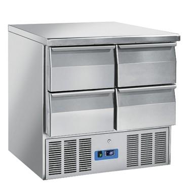 Tavolo di preparazione refrigerato con 4 cassetti, +0°/+8°C