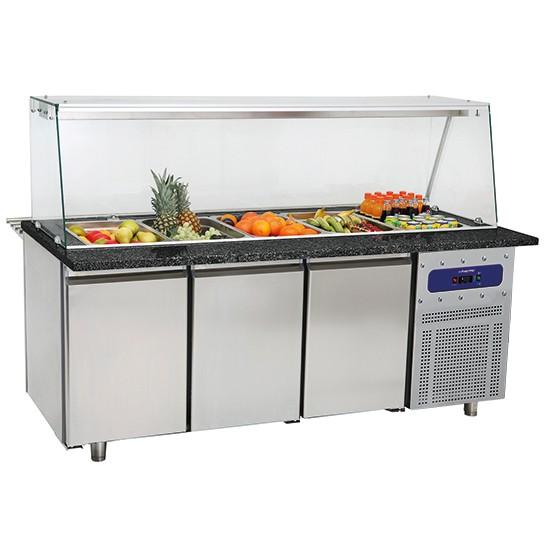 Banchi vetrina refrigerati per servizio