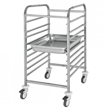 Carrello portabacinelle GN, 9x GN 1/1 h=65 mm