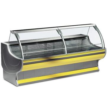 Vetrina refrigerata statica con 4 sportelli, larghezza=3500