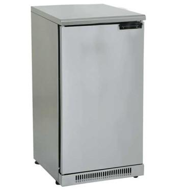 Vetrina refrigerata da sottobanco in inox con 1 porta battente, 110 litri, 0°c/+10°c
