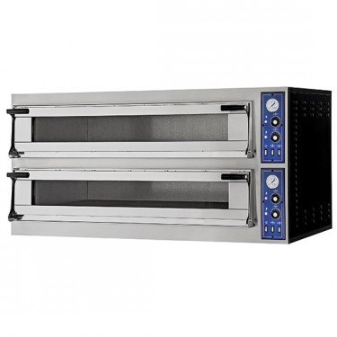 Forno pizza elettrico capacità da 6+6 pizze ø 35 cm, / 6 teglie 60x40cm