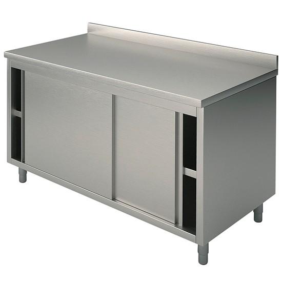 Tavoli armadiati con porte scorrevoli con alzatina profondità 70 cm