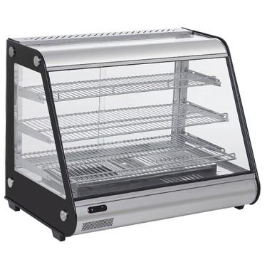 Espositore caldo,vetri scorrevoli lato servizio cap.130 lt.bacinella estraibile umidificazione,aria