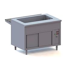 Elementi caldi bagnomaria su armadio caldo