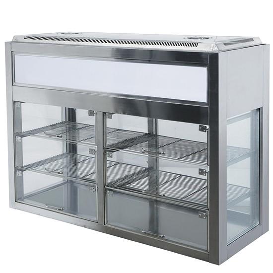 Vetrine refrigerate orizzontali con gruppo refrigerante in alto