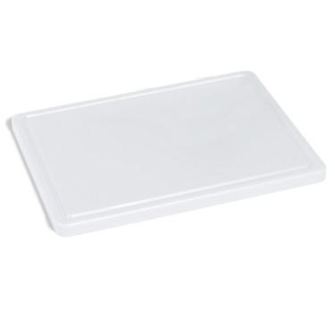 tagliere in bianco per formaggi con canalina, 500x300 mm