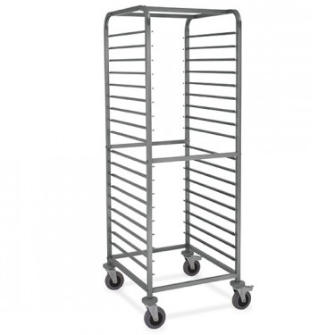 Carrello portabacinelle GN, 18x GN 2/1 h=75 mm