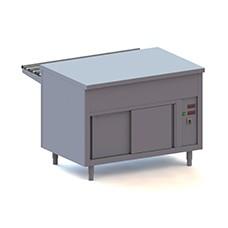 Elemento neutro su armadio caldo, l=1500 mm, 4x GN 1/1.