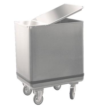 tramoggia per farina con coperchio in inox, 150 litri