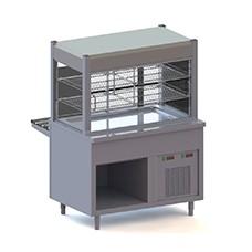 Vetrine refrigerate con piano refrigerato su vano a giorno