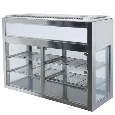 Espositore refrigerato passante, +2°C/+8°C, l=900mm.