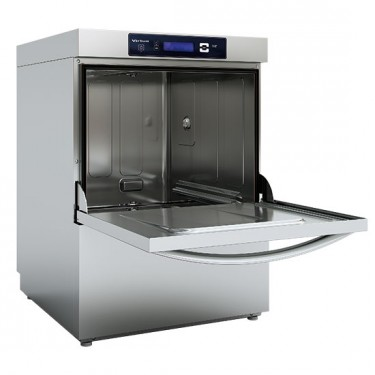 Lavastoviglie digitale con dosatore detergente e pompa di scarico, cesto da 50x50 cm, max h=38 cm