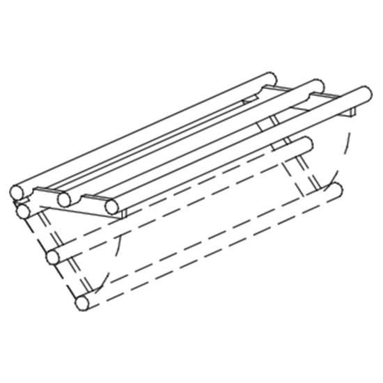 Scorrivassoi lineari reclinabili in tubo